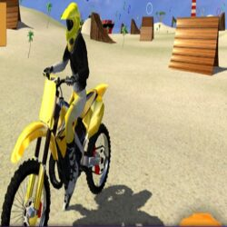 motor cycle beach stunt