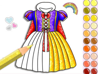 Princess Glitter Coloring