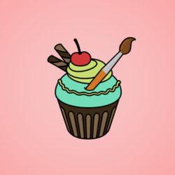 Yummy Cupcake Coloring