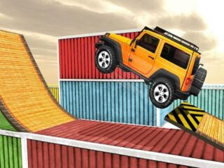 Impossible Tracks Jeep Stunt Driving Game